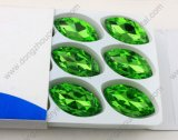 17*32mm Navette Shape Point Back Sew su Glass Crystal Stone
