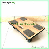 Wholesale Platform Tote Mobile Wood Dolly with Rubber