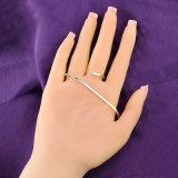 Braccialetto reale R215 della palma di Zircon della donna di modo del rame placcato dell'oro