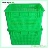 Nestable plástico e empilhável ventilada sacola de produtos hortícolas