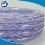 Claro personalizada flexible reforzado con fibra de tuberías para el riego por goteo