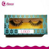 Eyelash косметической упаковки бумаги коробка с окошком