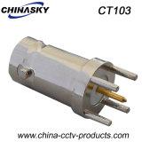 Conector BNC hembra CCTV con la Junta y enroscar la tuerca (CT103)