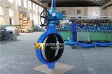 A válvula de borboleta atuada elétrica revestida da borracha cheia com ISO Wras do Ce aprovou (D971X-10/16)