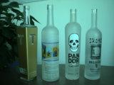 La Vodka de bouteilles en verre dépoli