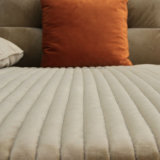 Design elegante mobiliário de canto sofá de tecido para Home