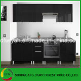 De Keukenkast van het Kabinet van de basis met het Kabinet van Laden, Moderne Keukenkast van de Kleur van de Lak van de hoog-Glans de Zwarte