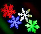 De LEIDENE van de sneeuwvlok Lichten van Kerstmis, Projector van de Lichten van de Decoratie van Kerstmis de Witte Openlucht