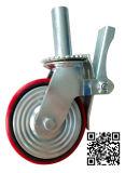6/8 Inch Scaffolding Red PU auf Iron Caster Wheel