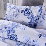 lecho floral azul vendedor caliente de 100 del algodón de la impresión reactiva mujeres del diseñador
