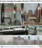 Bocal variável da fonte no aço inoxidável
