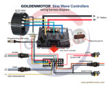 """jogo do motor de 48V72V96V 5kw BLDC para a motocicleta elétrica, carro elétrico, """"trotinette"""" elétrico, externo"""