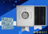 12W barata la fabricación de iluminación LED luces de calle solar integrada al aire libre