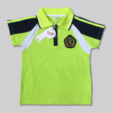 La camicia di polo dei ragazzi e delle ragazze personalizza l'uniforme scolastico di marchio