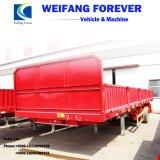 バルク貨物輸送のための半三車軸側面のトレーラー