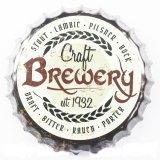 Custom Vintage Mayoreo signos de estaño metálico tapa de la cerveza la decoración de pared