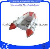 Côte en aluminium simple de coque de poids léger approuvé de la CE petite avec le tube gonflable de PVC