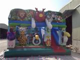 2016 New Funny Inflatable Jungle Theme Bouncy Castle for Kids