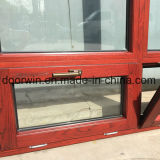 Revestido de aluminio de madera de roble inclinar y girar Windows