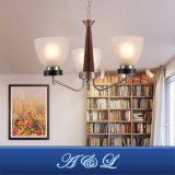 Светильник канделябра тени классической конструкции стеклянный для прихожей, спальни, живущий комнаты, кухни, столовой