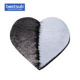 [بستسوب] تصعيد نقل [سقوين] مادة لأنّ لباس (قلب, سوداء مع أبيض)