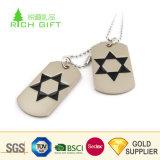 金製造者の中国のカスタム贅沢なキリスト教の十字が付いている金属によって刻まれる純銀製のドッグタッグ