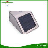 PIRの動きセンサーの屋外ランプの太陽動力を与えられた壁ライト