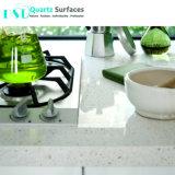 Comercio al por mayor superficie sólida blanca encimera de recepción y el tablero