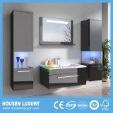 Casa de Banho Europeu vaidades personalizados de MDF com 2 compartimento lateral da luz azul HS-M1108-700