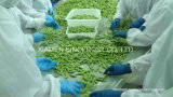 Les fèves de soja Edamame IQF, congelés de graines de soja vert, dans les gousses/noyaux/vitrage
