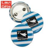 Insignia de la promoción personalizada fabricante protector de plástico Tin Button Badge