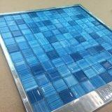 Mosaico di vetro di colore di formato 23X23X4mm del chip della piscina blu della stanza da bagno (G423019)