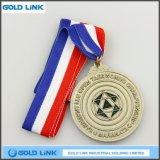スポーツメダルカスタム金属メダルTaekwondoの円形浮彫りの金属のクラフト