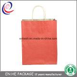 習慣によって印刷される食糧食料品の買い物のブラウンクラフト紙袋