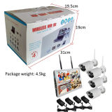 HD 2.0MP Kit cámara CCTV Wireless WiFi bricolaje NVR Kit 4 cámaras de seguridad de la cámara con disco duro y el monitor