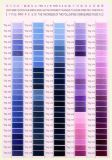 75D 폴리에스테 자수 스레드 색깔 카드