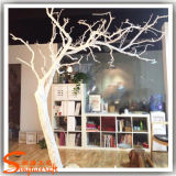 Boutique Décoration Fibre de verre Artificiel Blanc Sec Arbres Branches