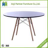 Tableau blanc rond dinant matériel durable de barre de meubles (Daphne)