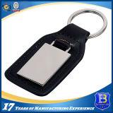 Keychain (Ele-K054)를 인쇄하는 주문 가죽 및 스테인리스