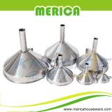 6 piezas Conjunto de Embudo de acero inoxidable