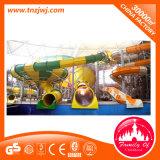 Grand parc aquatique de terrain de jeux de divertissement de l'eau en fibre de verre diapositive pour Drôle
