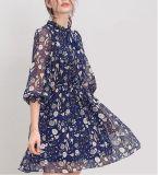 Gedrucktes Form-elegantes Kleid der Dame-Fee-3/4 Hülse