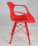 Cadeira Stackable moderna do braço do Polypropylene com pé do metal (LL-0048A)
