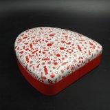 مستحضر تجميل أحمر قصدير علبة/صندوق مع دائرة مثلث شكل ([ت003-ف5])