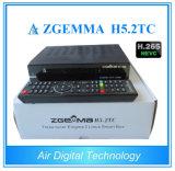 より速く、強力なZgemma H5.2tc Hevc H. 265 DVB-S2+2*DVB-T2/C衛星TVの受信機