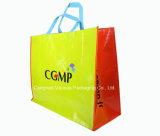 Sacola de compras reciclada Saco de tecido promocional, Bolsa de transporte