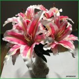가정 결혼식 훈장 도매업자를 위한 인공 꽃 가짜 꽃 분홍색 백합