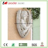 Ornamento de jardim grande de escultura de anjo de Polyresin para decoração ao ar livre