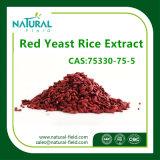 Выдержка риса дрождей дополнения 3% полная Monacolin-K качества еды красная