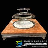 Calefacción eléctrica de la base de granito de lujo de plato rozaduras.